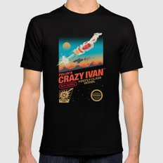 Crazy Ivan Black LARGE Mens Fitted Tee