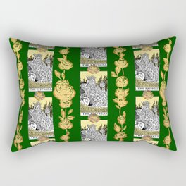 The Empress - A Floral Tarot Print Rectangular Pillow