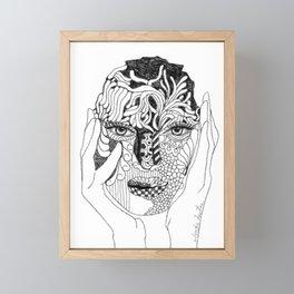 Her Love Mask Framed Mini Art Print