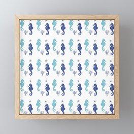 AFE Seahorse Pattern Framed Mini Art Print