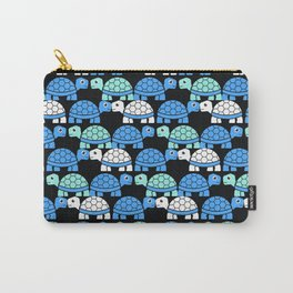 Turtle Pattern (Black/Blue/White) Carry-All Pouch