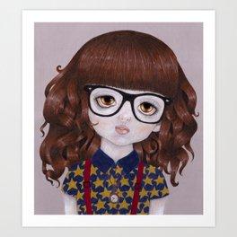 Margot- Hipster Girl Art Print