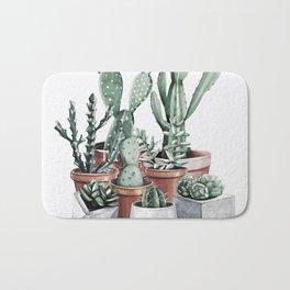 Potted Cacti + Succulents Rose Gold Bath Mat