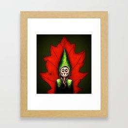 Leaf Gnome Framed Art Print