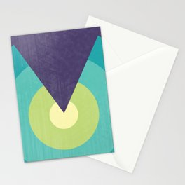 Midnight in The Desert - Retro Circles Stationery Cards