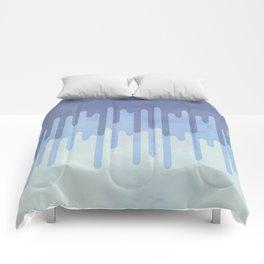 Melting blue Comforters