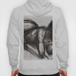 Nevertheless (Doch) - Charcoal on Newspaper Figure Drawing Hoody