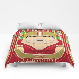 American Football Red and Gold - Enzone Puntfumbler - Victor version Comforters