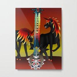 Fusion Keyblade Guitar #189 - Unicornis' Keyblade & Twilight Blaze Metal Print