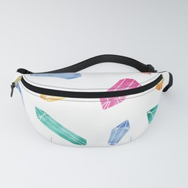 Crystals pattern - White2 Fanny Pack
