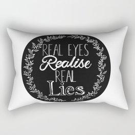 Real Lies Rectangular Pillow