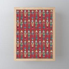 The Nutcracker Prince Pattern Red Framed Mini Art Print