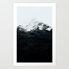 Those waves were like mountains Art Print