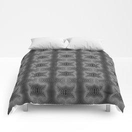 Varietile 37 B+W (Repeating 2) Comforters
