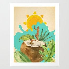 Coconut Milk Party Art Print