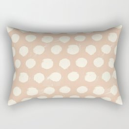 Spotsy-Peach Rectangular Pillow
