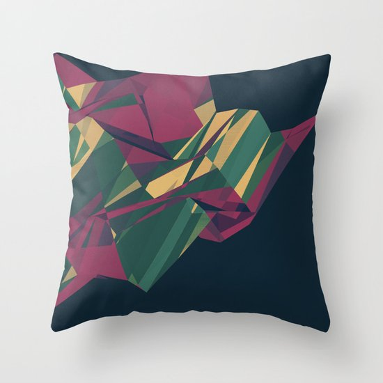 Crystalline 1 Throw Pillow