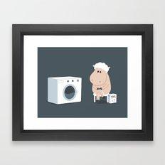 Wool wash Framed Art Print