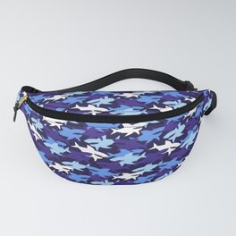Blue Sharks Camouflage Pattern Fanny Pack