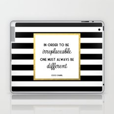 Coco Gold Irreplaceable Fashion Quote Laptop & iPad Skin