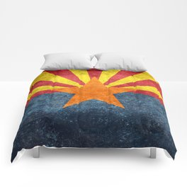 Flag of Arizona, Vintage Retro Style Comforters