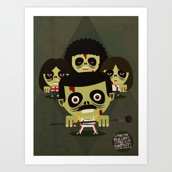 queen zombies Art Print