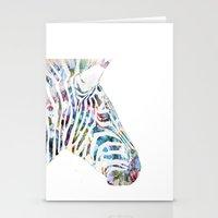 zebra Stationery Cards featuring Zebra by NKlein Design