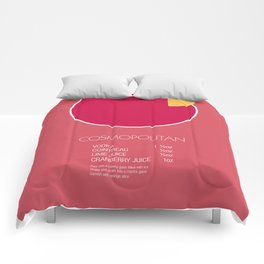 Cosmopolitan Cocktail Recipe Poster (Imperial) Comforters