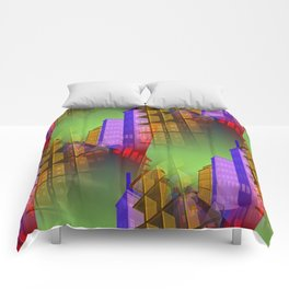 city pattern -2- Comforters