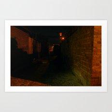 Lit Alleys Art Print