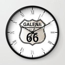 Galena Route 66 Wall Clock