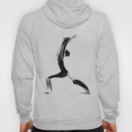 Moder black and white, minimalist ink figure yoga drawing, yoga illustration, yoga pose, yoga art Hoody