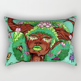 Tree of Life-Taurus Woman Rectangular Pillow