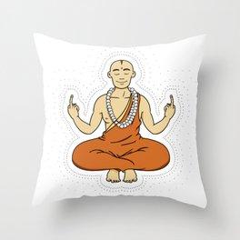 Spiritual peace, unfuck the world ;) Throw Pillow