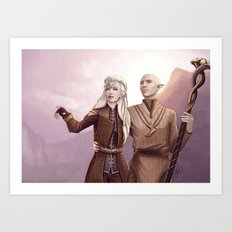 Dragon Age - Finding Skyhold - Solas and Inquisitor Art Print
