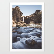 Secret waterfall Art Print