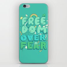 Freedom Over Fear iPhone & iPod Skin