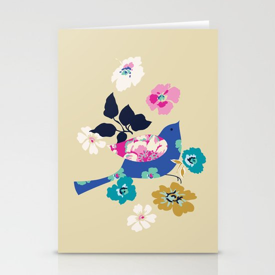 Birds and Blooms 2 Stationery Cards