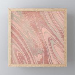 Modern pastel colors rose gold trendy marble Framed Mini Art Print