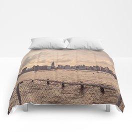 Midtown at dusk Comforters