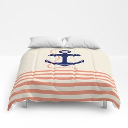AFE Navy Anchor and Chain Comforters