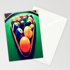 Pool balls Stationery Cards