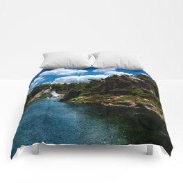 Frying Pan Lake, New Zealand Landscape Comforters