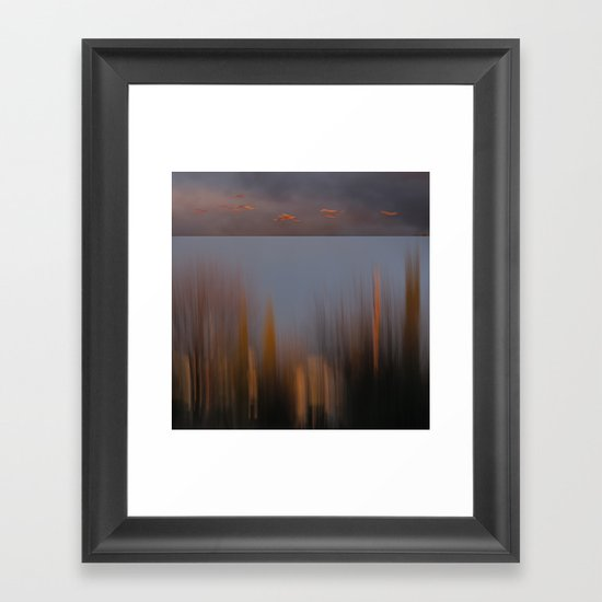 Dusk Fly By Framed Art Print