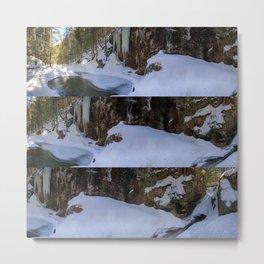 Frozen Sabbaday Falls NH (3) Metal Print