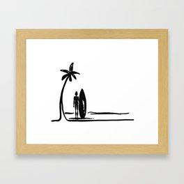 Surf Girl Daze Framed Art Print