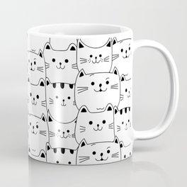 Lots of cats, cats, pattern, cat print, nursery, cats nursery, cat wall art Coffee Mug