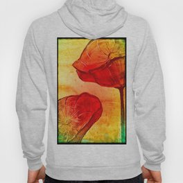 Red Poppies Colorful Art  Hoody