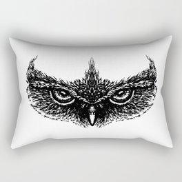 Focused (White) Rectangular Pillow