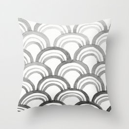 Wave Pattern Two Throw Pillow